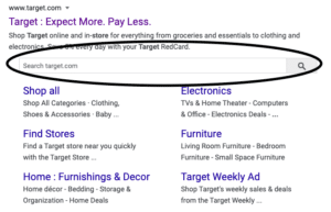 schema markup results in search